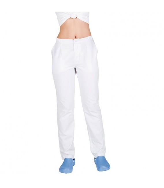 Pantalón Sanitario Sarga Blanca con Bolsillos