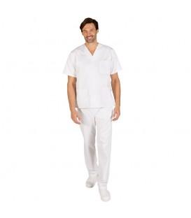 Conjunto Sanitario Unisex Pico Blanco Pantalón Goma