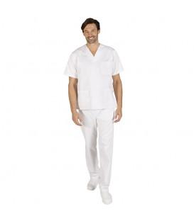 CONJUNTO-840 blanco pantalón botón
