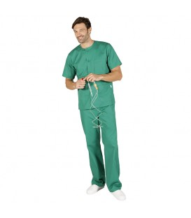 Conjunto Sanitario Unisex Abotonado Sarga Colores