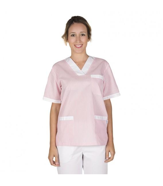 Blusa Sanitario Unisex Pico Vichy Combi Sarga